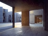 Salk Institute by Louis Kahn. One of my favorite buildings...even more beautiful in person!