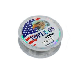 4.5 Clear Fishing Fish Line Spool Dia 0.35mm 100M 11.5Kg 25lbs *** Learn more by visiting the image link.