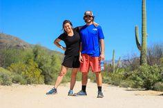 Lindsey and Adam Nubern, Sabino Canyon, Saguaro Cactus, Tucson, Arizona, Desert, Santa Catalina Mountains, Things to Do in Arizona, Coronado National Forest, nuventuretravels.com