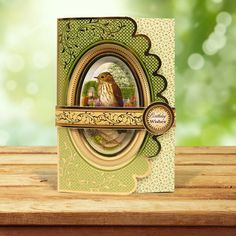 This card was made using the 'Pretty Pyramount Wrap Cards' from the Birds of Britain Collection