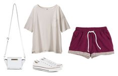"""""""M"""" by butnotperfect ❤ liked on Polyvore featuring H&M, Uniqlo, Converse and Miss Selfridge"""
