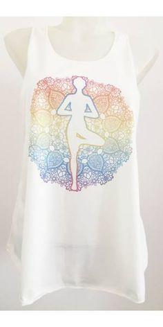 33ca4767dd fehér, színes, jóga, ujjatlan, pamut, felső, női, divat, trend, nyári,  sportos, elegáns, bohém, extravagáns