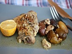Slow Cooker Chicken With 40 Cloves of Garlic and Fingerling Potatoes