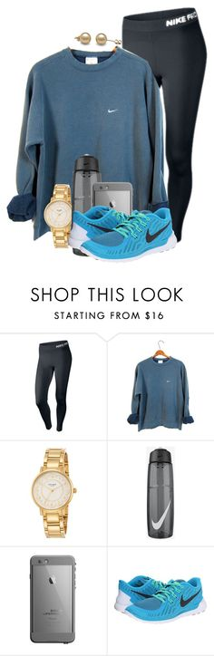 My leg hurts sooo bad and My dad cant check me out of school  by madelyn-abigail ❤ liked on Polyvore featuring NIKE and Kate Spade