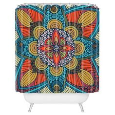 """Valentina Ramos Harmony in Yellow Shower Curtain by DENY Designs (71""""x74"""") : Target"""