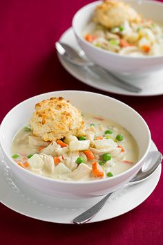 Chicken Pot Pie Soup with Parmesn Drop Biscuits   Cooking Classy