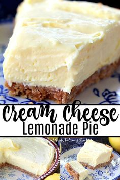 Cream Cheese Lemonade Pie is creamy, tart and full of lemony flavor. This is definitely a refreshing, super delicious, no bake, lemon dessert that can be made in 10 minutes. Source by desserts desserts easy desserts healthy desserts recipes Winter Desserts, Desserts Rafraîchissants, Tolle Desserts, Great Desserts, Easy Lemon Desserts, Lemon Dessert Recipes, Refreshing Desserts, Easy Cream Cheese Desserts, Easy Delicious Desserts