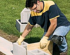 betonblock garten Every great home improvement plan starts with the basics. Learn how to set a solid base for a concrete block wall and lay out a strong foundation.