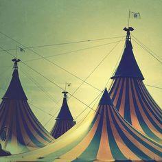 The circus is where the magic begins. I love that whimsical feeling.