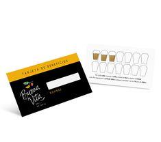 Premiar a tus clientes es parte de una buena estrategia para fidelizarlos. . Acá un buen ejemplo: el diseño de la tarjeta de beneficios de la Buona Vita. . Por cada café, sumás 1 sello, si venís en bici, sumás 2! Si llenás los 7 vasitos te regalan un café chico, si completás todos te llevás uno grande!