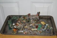 Gold Recovery : 8 Steps (with Pictures) - Instructables Scrap Gold, Gold Teeth, Nickel Plating, Clay Bowl, Electronic Recycling, Electronic Engineering, Metal Working Tools, Plastic Trays, Metal Detecting