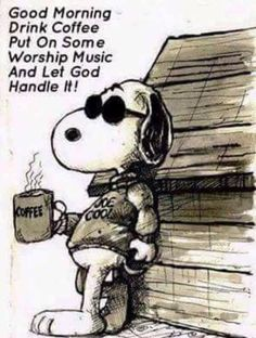 Snoopy worships