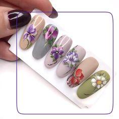 Creative Nail Designs, Creative Nails, Nail Art Designs, Flower Nail Art, Nail Arts, Manicure, French, Heavenly Nails, Nail Art