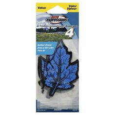 Medo Industries Auto Expressions Air Fresheners, Outdoor Breeze, 4 fresheners