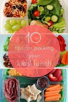 Tips for packing school lunches.