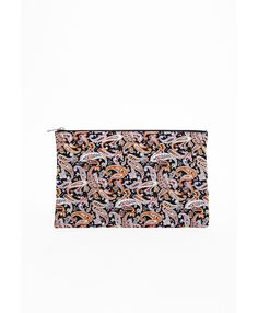 Akasha Paisley Printed Oversized Clutch Bag Multi - Accessories - Bags & Clutches - Missguided