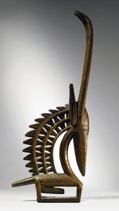 Africa | Anteleope headdress ~ chi wara ~ from the Bamana people of Mali | Wood