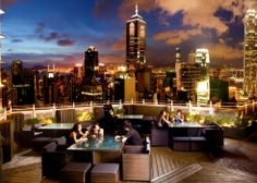 Hong Kong: Located on the top two floors of Hotel LKF, Azure is a sophisticated yet contemporary restaurant and lounge. The most striking here is the prospect of looking down at the city lights from such a dizzying height.