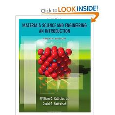 Materials Science and Engineering: An Introduction: William D. Callister, David G. Rethwisch: 9780470419977: Books - Amazon.ca