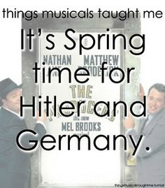 It's Spring Time For Hitler & Germany.