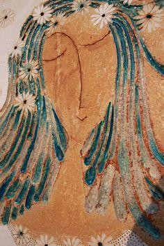 Kachle – zuzana-strakova – album na Rajčeti Paper Mache Bowls, Ceramic Workshop, Clay Sculptures, Mixed Media Collage, Ceramic Art, Iridescent, Modern Art, Tiles, Mosaic