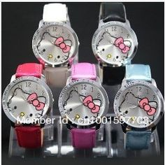 52f1e6b3133 free shipping Wholesale Hello kitty watch Free shipping.Min order ,Can Mix  order gggg220000