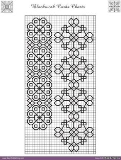 Here& a little blackwork + floral inspiration to start yoThis Pin was discovered by Hat - Salvabrani Motifs Blackwork, Blackwork Cross Stitch, Cross Stitch Borders, Cross Stitch Designs, Cross Stitching, Cross Stitch Patterns, Kasuti Embroidery, Folk Embroidery, Cross Stitch Embroidery