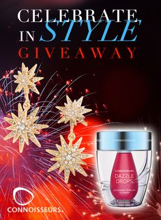 Celebrate in Style!   You could win all 3 Dazzle products plus these Baublebar Gold Drop Earrings! Value $130   http://connoisseurs.com/contest-entry-JL20174th.htm