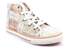 PRIMIGI 73152 00 PAILLETTES Bambina Sneakers Bianco Rosa Argento Scarpa All  Star 345c7a3e9491