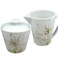 Corelle White Flower Sugar & Creamer Set - $10