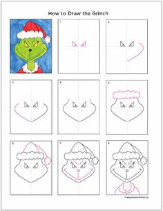 How to Draw the Grinch - ART PROJECTS FOR KIDS