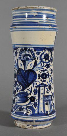 Abarello, Barcelone, 17e s., Céramique à décor peint, H. 33 cm, Fondation La Fontana, FC.2014.01.57