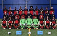 Voici la photo officielle des Diables rouges pour l'Euro 2016 | Football belge - lesoir.be