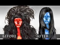How to: Fix Damaged Synthetic Hair? Turn Old Wigs Into New Ones - YouTube