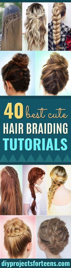 Best Hair Braiding Tutorials - Easy Step by Step Tutorials for Braids - How To Braid Fishtail, French Braids, Flower Crown, Side Braids, Cornrows, Updos - Cool Braided Hairstyles for Girls, Teens and Women - School, Day and Evening, Boho, Casual and Forma