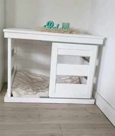 Home Projects, Home Crafts, Wooden Dog House, Puppy Room, Ikea Bed, Dog Bed, Shabby, Dogs And Puppies, Entryway Tables