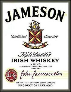 Amazon.com: Jameson Irish whiskey shabby chic vintage style framed print vintage style picture wall plaque sign (A3): Home & Kitchen #affiliate #vintageposter #poster #advertising #alcohol Wall Plaques, Wall Signs, Vintage Metal, Vintage Style, Retro Vintage, Whiskey Label, Christian Wall Decor, Jameson Irish Whiskey, Scripture Wall Art