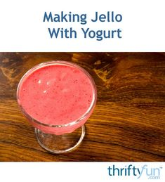 Try adding yogurt to your Jello mix for a different version of this popular treat. This is a guide about making Jello with yogurt. Greek Yogurt And Jello Recipe, Easy Yogurt Recipe, Greek Yogurt Dessert, Homemade Yogurt Recipes, Jello Desserts, Jello Recipes, Best Dessert Recipes, Fun Recipes, Pudding Recipes