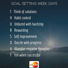 So we made it to Thursday.  Well done so far. Try a different attitude spin each day to retain inspiration and motivation for your goals.