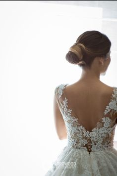 Makeup and Hair: Liz Fanlo Makeup * Hair * Skincare Bridal Hair Buns, Lace Wedding, Wedding Dresses, Bun Hairstyles, Looks Great, Skincare, Hair Accessories, Makeup, Fashion