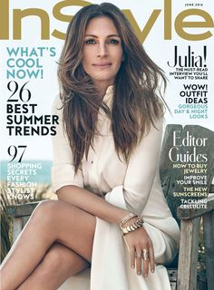 Julia Roberts in Bally Spring 2016 on the June 2016 Cover of InStyle Magazine
