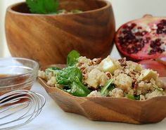 Apple Spinach Quinoa Salad with Maple Pomegranate Vinaigrette - multiplydeliciousprintrecipes