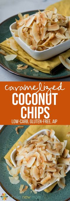 This Homemade Caramelized & Toasted Coconut Chips Recipe is one of the most helpful easy snack recipes I have ever come up with. Why? These little morsels of crunchiness and sweetness are just perfect – and they're a super frugal version of the store bought ones. They're also special diet friendly – they're a low carb, paleo, autoimmune protocol/AIP, GAPS, and gluten-free snack!
