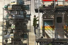Create a Avatar for the upcoming Steven Spielberg Film 'Ready Player One' Avatar 3d, Storyboard, Cyberpunk, Utopian Society, Web Design, Ready Player One, City Painting, Walled City, Upcoming Films