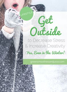 Did you know that connecting with nature decreases stress and increases creativity? Getting outside can make such a difference in how you feel! We just spend too darned much time indoors. With so many hours of our day spent behind a device and indoors, when you do get outside it's truly a breath of fresh air!  #health #healthyliving #healthylifestyle #outdoors #greatoutdoors #freshair #winter #getoutside #connectwithnature