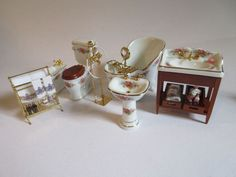 Reuter porcelain set. Need to sell mine. My client was a fervent collector of fine miniatgure furniture for her amazing dollhouses. She was homebound and took great pride in keeping her houses in tip-top condition, and her furnishings as well. | eBay!