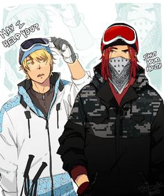 :Amour Sucre: Skier Boyfriends (?) by BTRumple.deviantart.com on @deviantART | Hory shet the ship is too strong //sexual tension