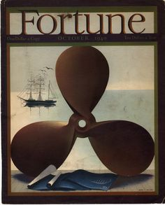 Detail Of Fortune Magazine Cover Copyright 1940 Marine Propeller - Mad Men Art: The Vintage Advertisement Art Collection Vintage Advertisements, Vintage Ads, Vintage Posters, Fortune Magazine, Booth, Art Deco Posters, Design Posters, Ad Art, Design Graphique