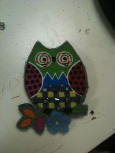 Felt owl created by virginia e veronica