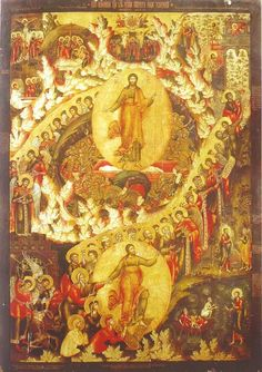 Resurrection and Descent to Hell Church of Elijah the Prophet, Yaroslavl, Russia anonymous artist of the Jaroslav school) Christ is risen from the dead death by death, and those in the graves bestowing life! Russian Icons, Russian Art, Religious Images, Religious Art, Christ Is Risen, Jesus Christ, Black Jesus, Classical Antiquity, Byzantine Icons